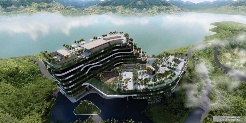Khách sạn trung tâm dự án Cullinan Resort Hoà Bình