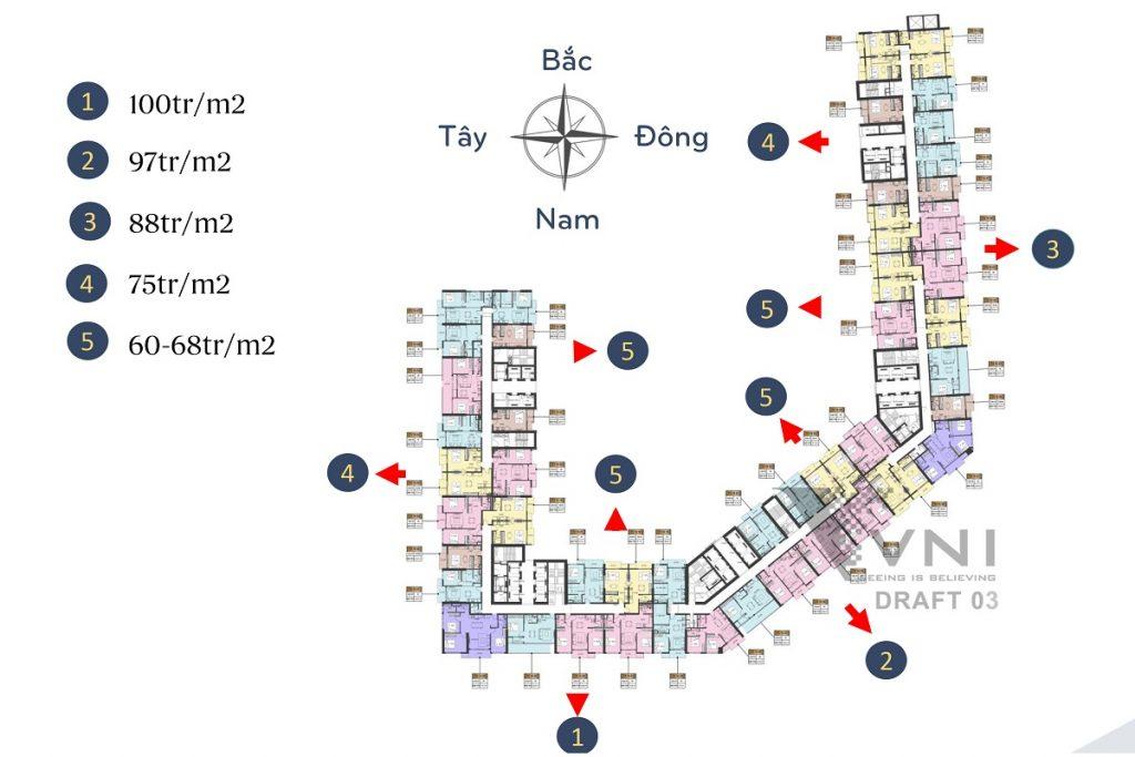 Khoảng giá bán chung cư Sun Marina Town Hạ Long