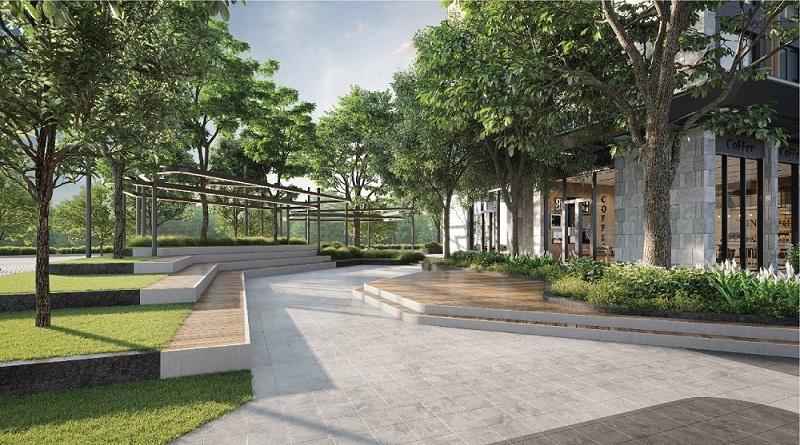 Không gian xanh Masteri West Height Smart City