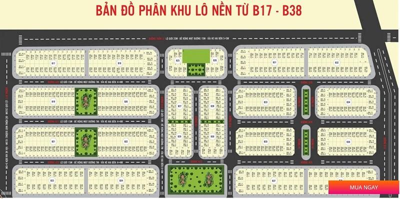 Mặt bằng phân lô dự án Hamubay Phan Thiết - Bình Thuận