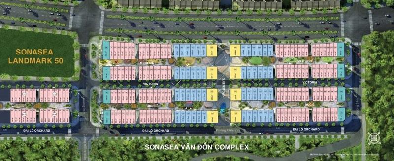 Mặt bằng shoptel dự án Sonasea Harbor City Vân Đồn - CEO Group