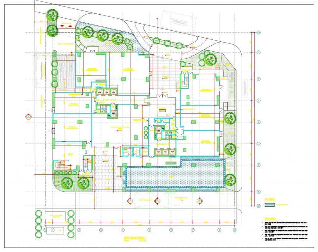 Mặt bằng tiện ích chung cư The 5 Degrees Phố Cúc Ecopark - An Phú