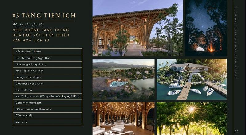 Mặt bằng tiện ích dự án Cullinan Resort Hòa Bình