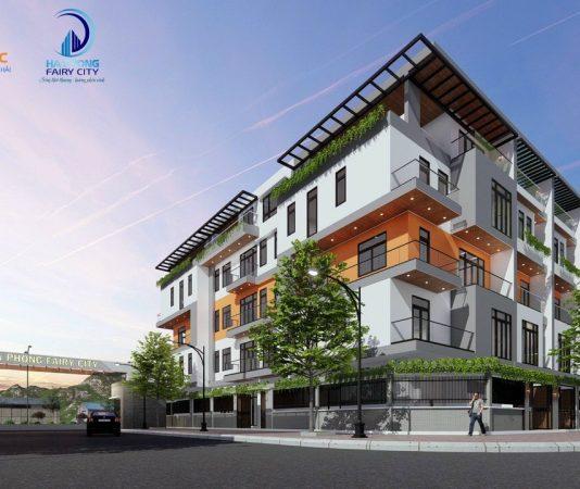 Phối cảnh nhà phố thương mại dự án Hà Phong Fairy City Hạ Long