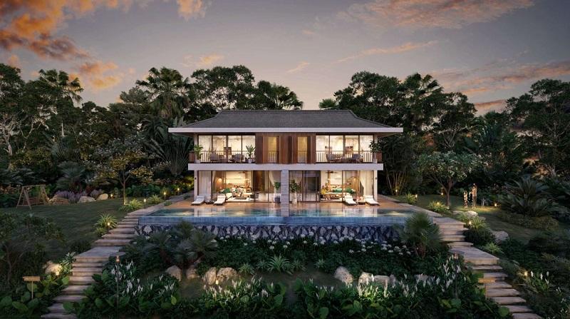 Phối cảnh 2 biệt thự song lập dự án Cullinan Resort Hòa Bình