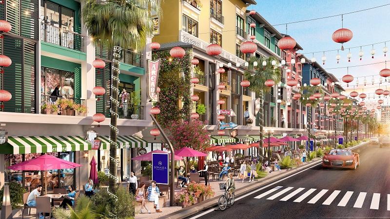 Phối cảnh 2 Shoptel dự án Sonasea Harbor City Vân Đồn - CEO Group