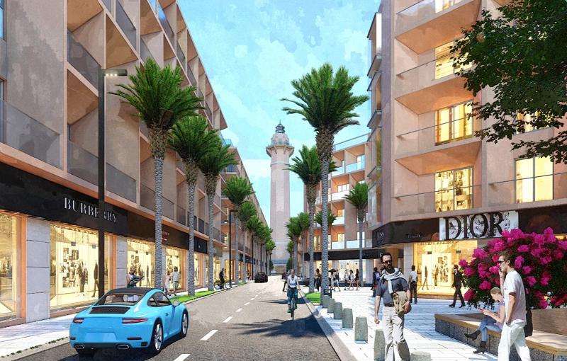 Phối cảnh 5 shophouse dự án Sun Marina Plaza Hạ Long