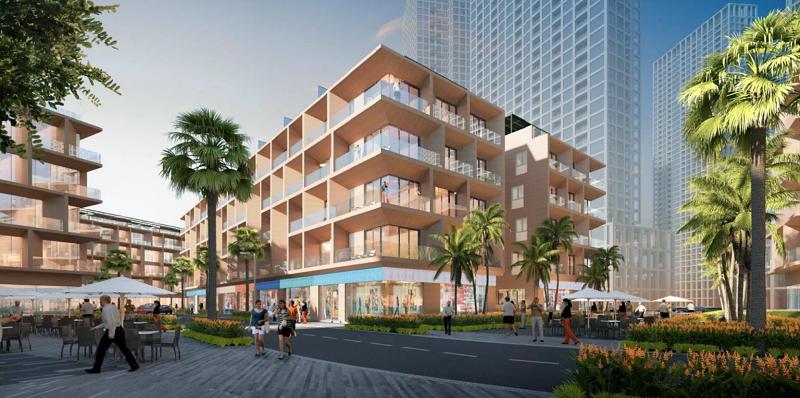 Phối cảnh 7 shophouse dự án Sun Marina Plaza Hạ Long