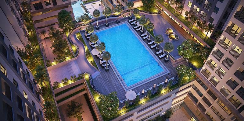Phối cảnh bể bơi dự án chung cư Lavita Linh Đàm - Hưng Thịnh