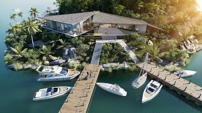 Phối cảnh bến tàu dự án Cullinan Resort Hoà Bình