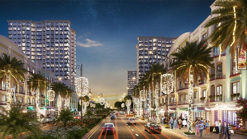 Phối cảnh đại lộ trung tâm dự án Sun Grand Boulevard Thanh Hoá