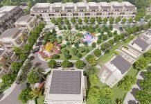 Phối cảnh không gian xanh khu biệt thự Lan Viên Villa Đặng Xá - Gia Lâm