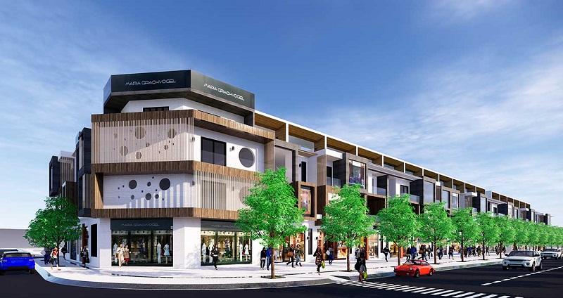 Phối cảnh shophouse dự án Hamubay Phan Thiết - Bình Thuận