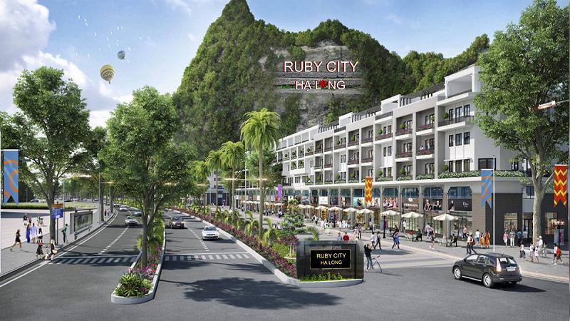 Phối cảnh Shophouse Ruby City Hà Khánh - Hạ Long