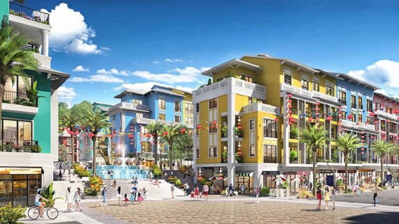 Phối cảnh Shoptel dự án Sonasea Harbor City Vân Đồn - CEO Group