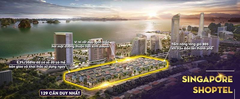 Phối cảnh Shoptel Sonasea Harbor City Vân Đồn - CEO Group