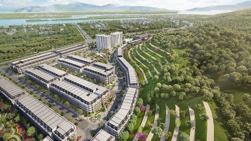 Phối cảnh tổng thể 3 Shophouse Ruby City Hà Khánh - Hạ Long
