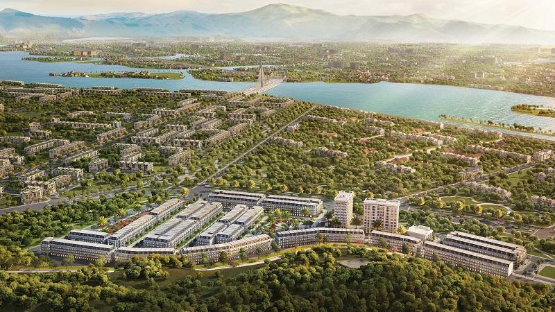 Phối cảnh tổng thể Shophouse Ruby City Hà Khánh - Hạ Long