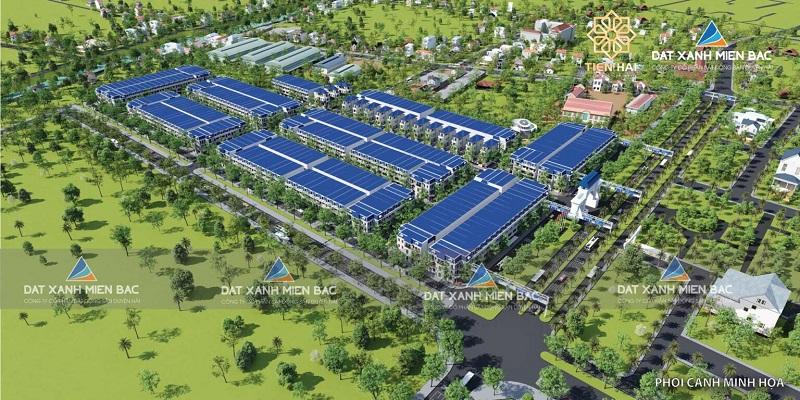 Phối cảnh tổng thể Tiền Hải Center City - Trái Diêm 3 Thái Bình