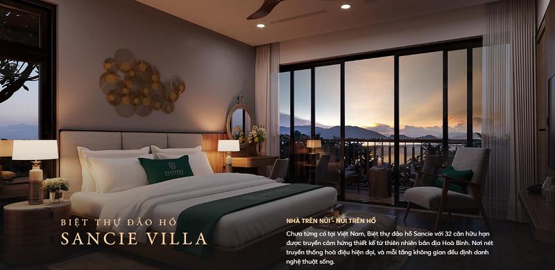 Phòng ngủ biệt thự dự án Cullinan Resort Hoà Bình