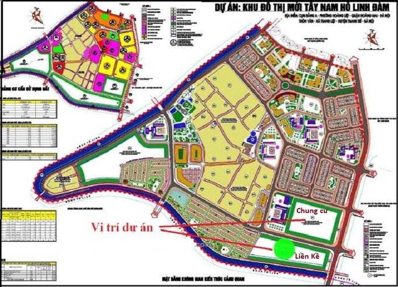 Quy hoạch dự án chung cư Lavita Linh Đàm - Hưng Thịnh