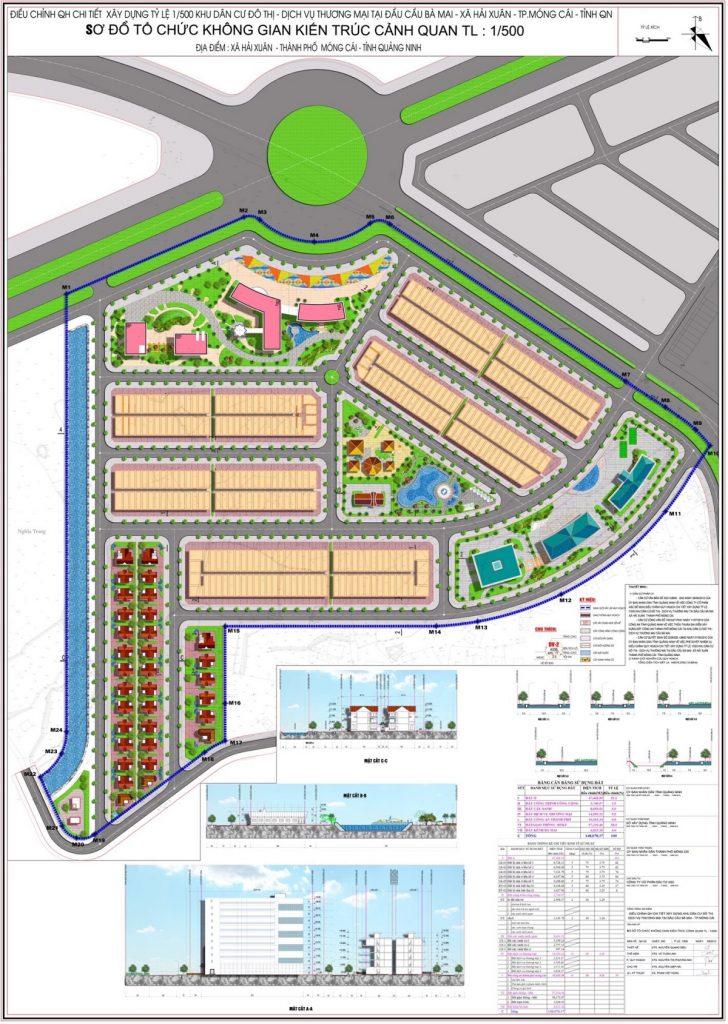 Quy hoạch khu đô thị mới ASC Móng Cái đầu cầu Bà Mai