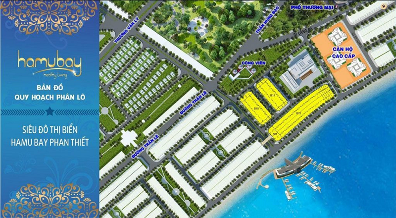 Quy hoạch phân lô dự án Hamubay Phan Thiết - Bình Thuận