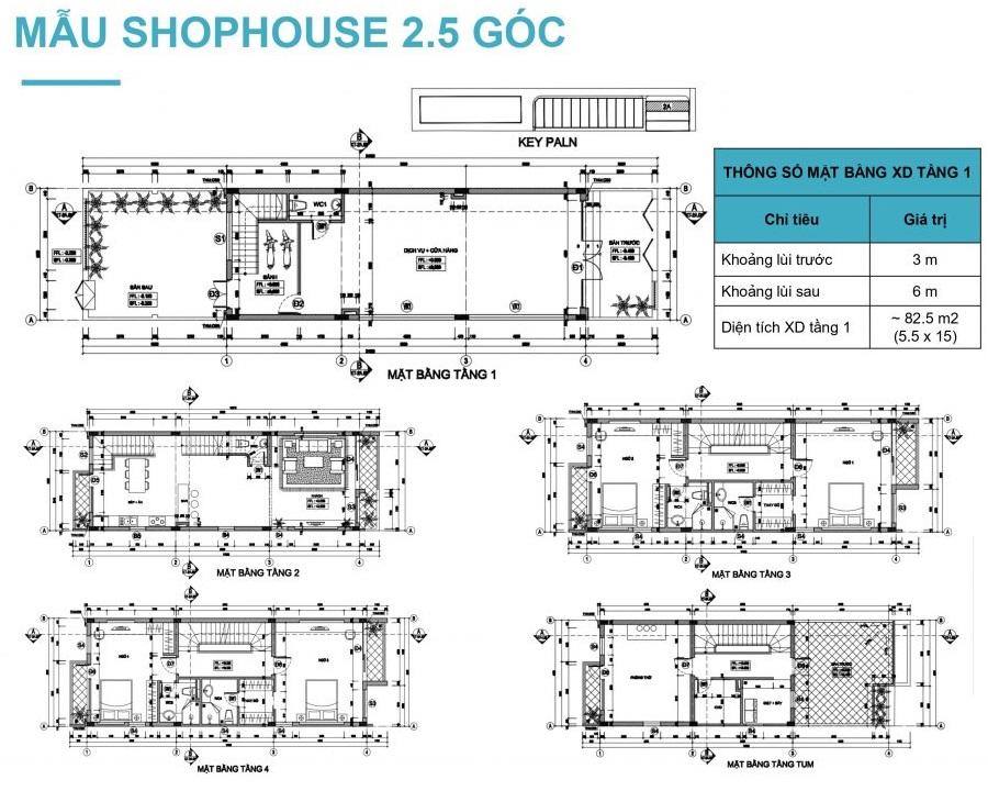 Thiết kế shophouse góc Lavender Garden 176 Định Công