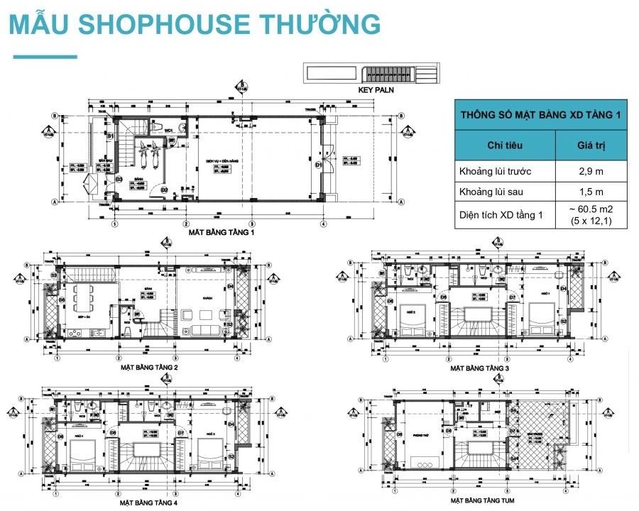 Thiết kế shophouse thường Lavender Garden 176 Định Công