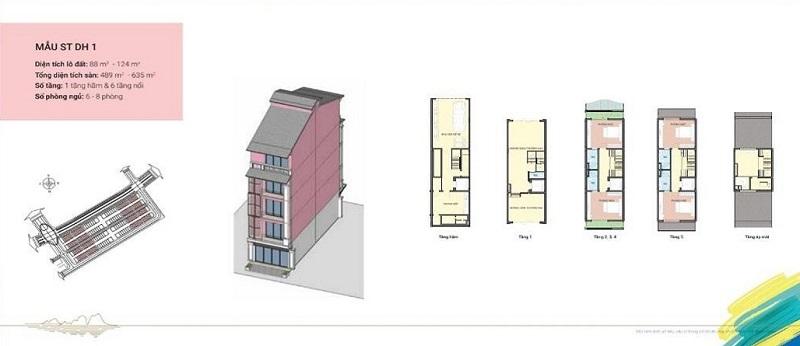 Thiết kế Shoptel mẫu DH1 dự án Sonasea Harbor City Vân Đồn - CEO Group