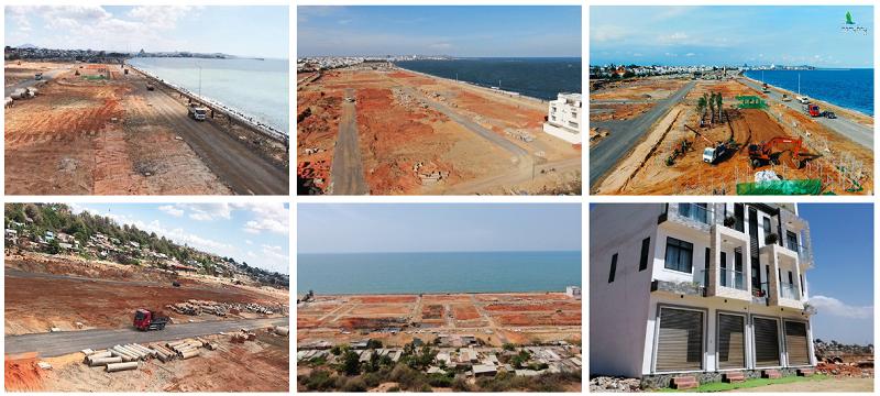 Tiến độ thực tế dự án Hamubay Phan Thiết - Bình Thuận