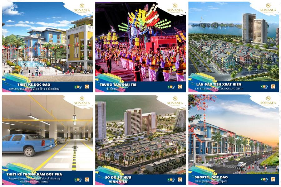 Sản phẩm đa dạng dự án Sonasea Harbor City Vân Đồn - CEO Group