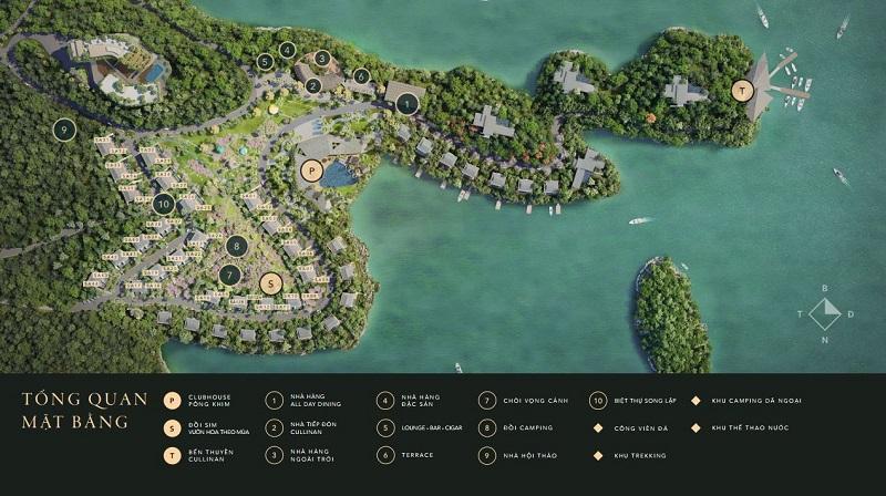 Tổng mặt bằng dự án Cullinan Resort Hòa Bình
