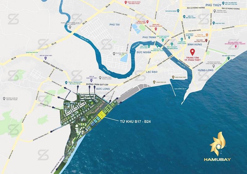 Tổng mặt bằng dự án Hamubay Phan Thiết - Bình Thuận