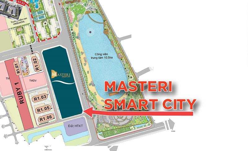 Vị trí 2 Masteri West Height Smart City
