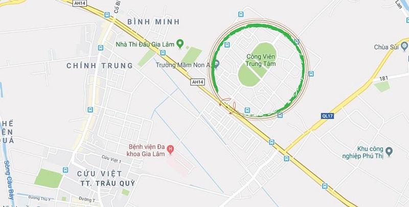 Vị trí khu biệt thự Lan Viên Villa Đặng Xá - Gia Lâm