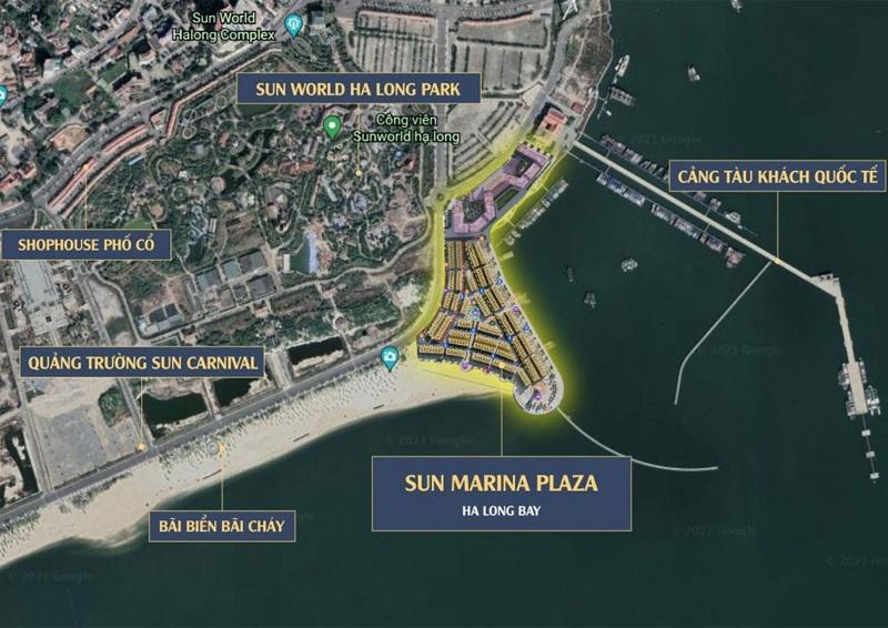 Vị trí Sun Marina Town Hạ Long