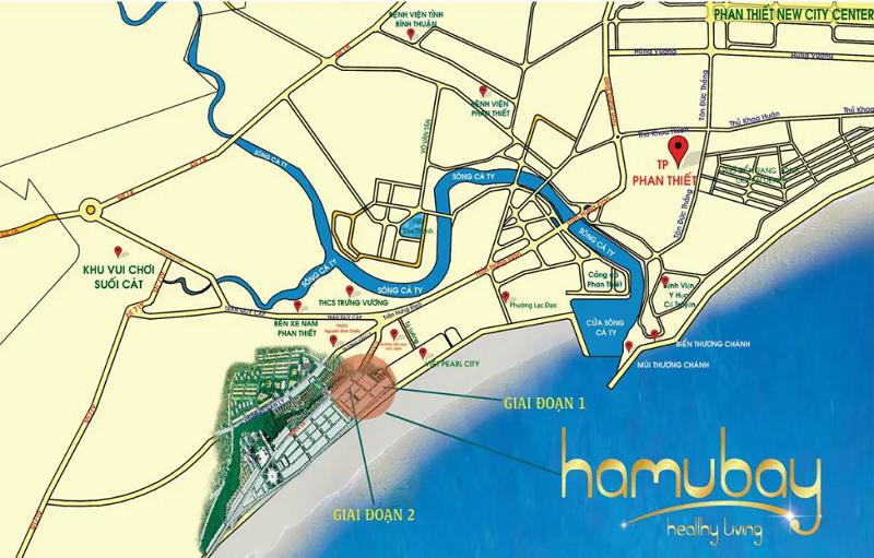 Vị trí dự án Hamubay Phan Thiết - Bình Thuận