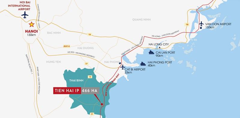 Vị trí KCN Tiền Hải - Thái Bình