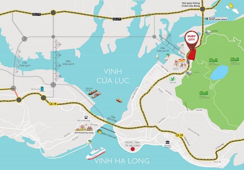 Vị trí Shophouse Ruby City Hà Khánh - Hạ Long