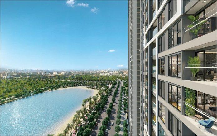 View hồ từ căn hộ Masteri West Height Smart City