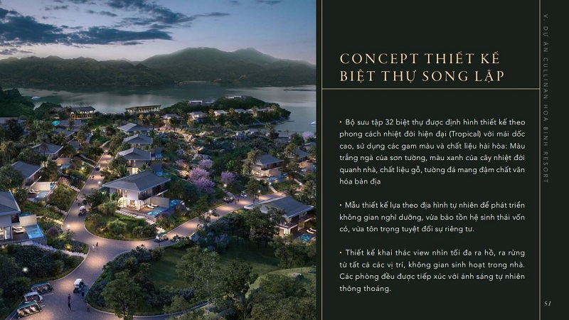 Ý tưởng thiết kế biệt thự dự án Cullinan Resort Hòa Bình