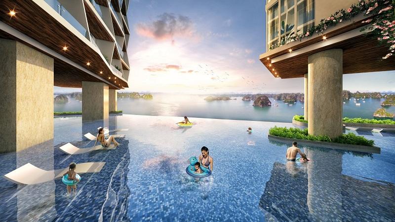 Bể bơi 2 dự án The Holiday Bãi Cháy - Hạ Long