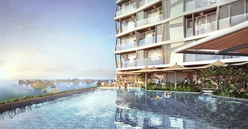 Bể bơi dự án The Holiday Bãi Cháy - Hạ Long