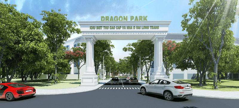 Cổng dự án Hải Long Trang - Dragon Park Văn Giang