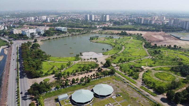 Công viên hồ điều hoà Kim Quan khu đô thị Việt Hưng - Long Biên