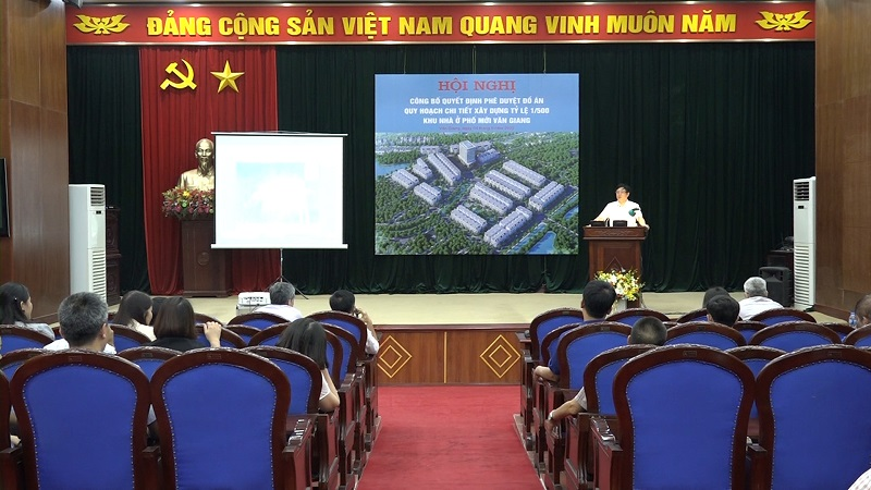 Hội nghị công bố quyết định phê duyệt 1/500 dự án Khu nhà ở Phố Mới Văn Giang
