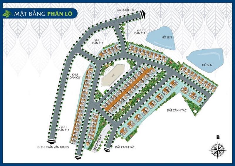 Mặt bằng phân lô dự án Hải Long Trang - Dragon Park Văn Giang