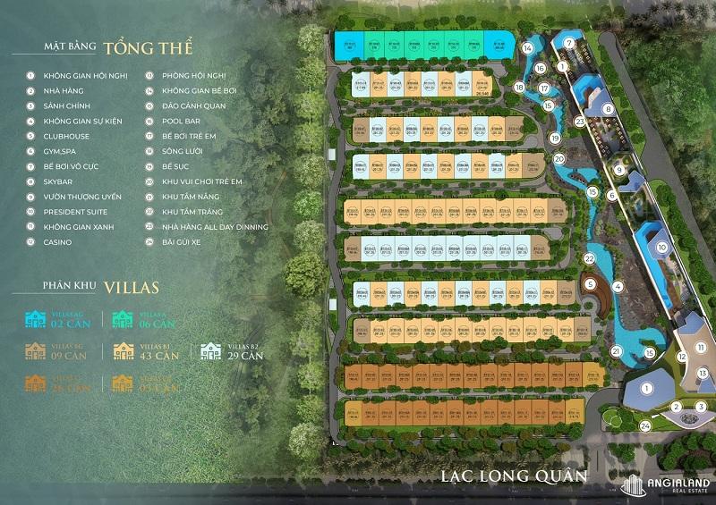 Mặt bằng phân lô dự án Grand Mercure Hội An - Điện Bàn - Quảng Nam