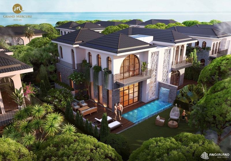 Phối cảnh 1 biệt thự Phố dự án Grand Mercure Hội An - Điện Bàn - Quảng Nam